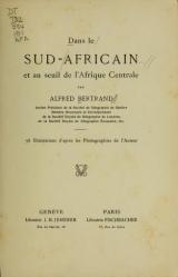 Cover of Dans le Sud-Africain et au seuil de l'Afrique Centrale