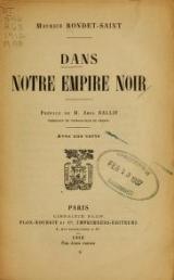 Cover of Dans notre empire noir