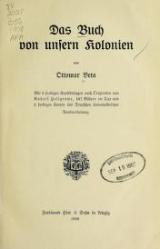 Cover of Das Buch von unsern Kolonien