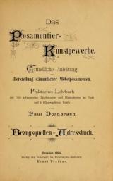 Cover of Das Posamentier-Kunstgewerbe