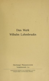 Cover of Das Werk Wilhelm Lehmbrucks