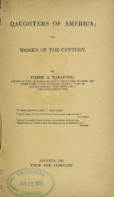 Cover of Daughters of America; or, Women of the century