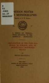 Cover of Declination of the pars basilaris in normal and in artificially deformed skulls