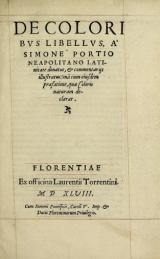 Cover of De coloribus libellus