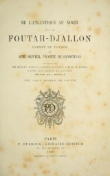 Cover of De l'Atlantique au Niger par le Foutah-Djallon
