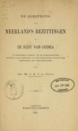 Cover of De oorsprong van Neerland's bezittingen op de kust van Guinea