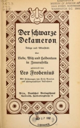 Cover of Der schwarze Dekameron