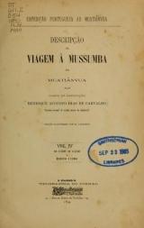Cover of Descripção da viagem á Mussumba do Muatiãnvua