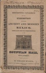 Cover of A descriptive catalogue of the exhibition, entitled Ancient and Modern Mexico