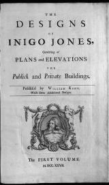 Cover of The designs of Inigo Jones