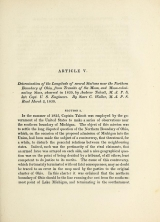 Cover of Determination of the longitude of several stations near the northern boundary of Ohio, from transits of the moon, and moon-culminating stars, observed