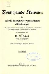 Cover of Deutschlands Kolonien in achtzig farbenphotographischen Abbildungen