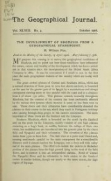 Cover of The development of Rhodesia from a geographical standpoint
