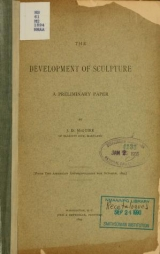Cover of Development of sculpture