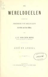 Cover of De werelddeelen - bewerkt naar Friedrich von Hellwald's die Erde und ihre Völker