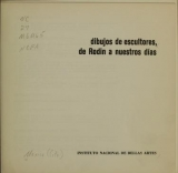 Cover of Dibujos de escultores
