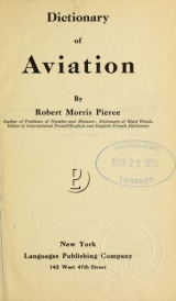 Cover of Dictionary of aviation