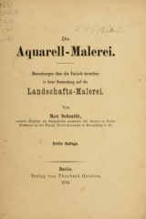 Cover of Die Aquarell-Malerei