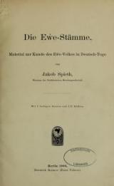 Cover of Die Ew̕e-Stämme