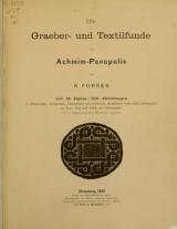 Cover of Die Graeber- und Textilfunde von Achmim-Panopolis