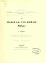 Cover of Die Masken und Geheimbünde Afrikas