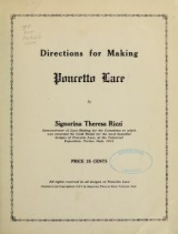 Cover of Directions for making Poncetto lace