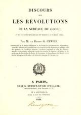 Cover of Discours sur les révolutions de la surface du globe et sur les changemens qu'elles ont produits dans le régne animal