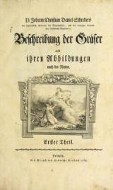 Cover of D. Johann Christian Daniel Schrebers ... Beschreibung der Gräser T.1 (1769)