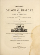 Cover of Documents relative to the colonial history of the state of New- York