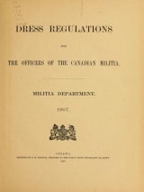Cover of Dress regulations for the officers of the Canadian Militia