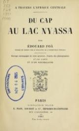 Cover of Du Cap au lac Nyassa