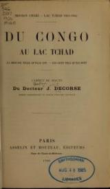 Cover of Du Congo au Lac Tchad