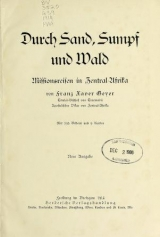 Cover of Durch Sand, Sumpf und Wald