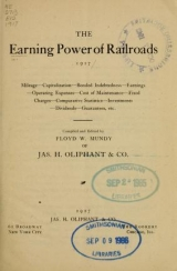 Cover of The Earning power of railroads, 1917