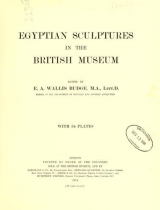 Cover of Egyptian sculptures in the British museum