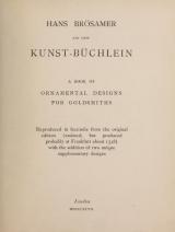 Cover of Ein new Kunst-Büchlein