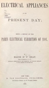 Cover of Electrical appliances of the present day