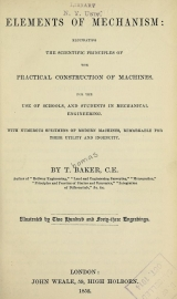 Cover of Elements of mechanism