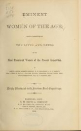 Cover of Eminent women of the age