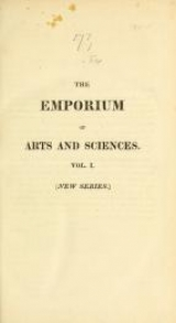 Cover of The Emporium of arts and sciences n.s.v.1 (1812)