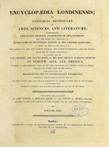 Cover of Encyclopaedia londinensis, or, Universal dictionary of arts, sciences, and literature v.22 (1827)