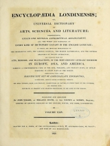 Cover of Encyclopaedia londinensis, or, Universal dictionary of arts, sciences, and literature v.24 (1829)