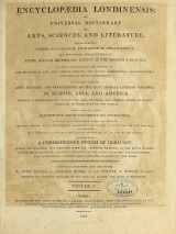 Cover of Encyclopaedia londinensis, or, Universal dictionary of arts, sciences, and literature v.5 (1810)