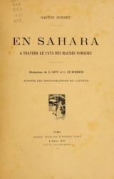 Cover of En Sahara à travers le pays des Maures nomades
