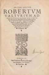 Cover of En tibi lector Robertum Valturium ... De re militari libris XII