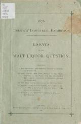 Cover of Essays on the malt liquor question