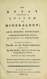 Cover of An essay towards a system of mineralogy