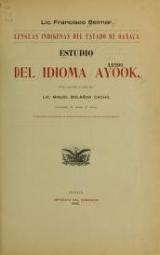 Cover of Estudio del idioma ayook