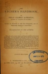 Cover of The etcher's handbook