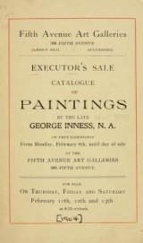 Cover of Executor's sale